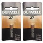 2x Duracell MN27 Alkaline 12V Battery G27A, A27, GP27A Key Fobs Remotes