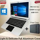 HOT-SALE EZbook Aluminium 13.3'' Laptop 64G Notebook 6G Ram Windows 10 FREE CASE