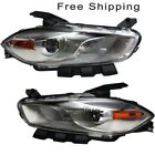 HID Head Lamp Lens and Housing Set of 2 LH & RH Side Fits Dodge Dart 2013-2016