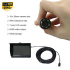 15m cable world's smallest 1080P digital HD video fishing camera with LCD DVR