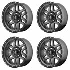 4x XD Series 18x9 XD128 Machete Wheels Matte Grayw/Black 6x135 +18mm