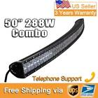 "Curved LED Light Bar Eyourlife 50"" 288W Flood Spot Combo Beam Off Road Driving"