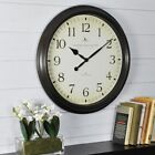 Classic Round Wall Clock Avery Whisper Neutral Dial Oil Rubbed Bronze 20 in NEW