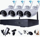 Zimtown 4CH 720P NVR Wireless Wifi Outdoor IR Night Vision Home Security Camera