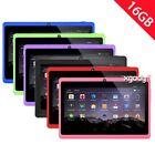 7'' Android 4.4 Tablet PC Quad Core 16GB Dual Camera HD Wifi Bluetooth Kids Pad