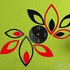 TV Backdrop Lotus Art Home DIY Acrylic Sticker Wall Clock 3D Sticker Clock