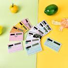Cute Cartoon Ultra Slim Credit Card Solar Power portable Pocket Calculator LTUS
