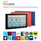 """All-New Fire HD 10 Tablet with Alexa Hands-Free,10.1"""" 1080p Full HD, 32BG, Blue"""