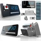 Dimmable Digital Snooze Alarm Clock Projection Led Display With Am Fm Radio New