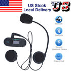 Motorcycle Bluetooth Intercom Headset Motorbike Interphone Helmet Communication