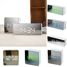4in1 Digital Rechargeable Mirror Alarm Clock / USB LED Night Light Thermometer