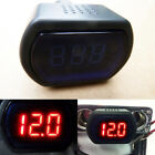 Digital Voltage Gauge Volt LED Car Truck System Battery Voltmeter Meter 12V/24V