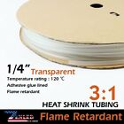 """120"""" Clear Heat Shrink Tubing Adhesive Fit Sleeve Terminals Connectors Glue"""