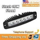 12V 18W Flush Mount LED Light Bar Fog Flood for Off-Road SUV Pickup Jeep Philips