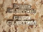 1977 1978 1979 FORD FOMOCO F-250 CUSTOM TRUCK SIDE EMBLEMS LH RH OEM