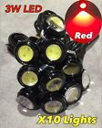 10x RED 3w high power LED puddle lights lens JDM VIP ground DRL for Honda c