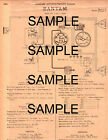 1939 1940 CROSLEY TWO CYLINDER DOUBLE OPPOSED AIR COOLED ORIGINAL WIRING DIAGRAM