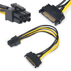 SATA Converter Adapter Video Power Supply Video Power Cable 15Pin To 6Pin New hl