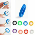 8pcs Hollow Soft 24mm*4mm Mixed Color Home Key Covers Keys Cap Keyring Silicone