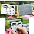 Pocket Solar Power Calculator LCD 8-digits Credit Card Simple Wallet Calculator