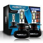 NIGHTEYE H4 9003 LED Headlight Bulb Conversion Kit 8000LM 6500K Xenon White x2