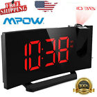 Mpow Projection Clock FM Radio Curved-Screen Digital Alarm Clock 5''  Display