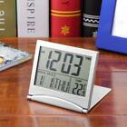 New Desk Digital LCD Thermometer Calendar Alarm Clock flexible cover  GA