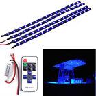 4Pcs Blue LED Boat Light Deck Waterproof 12v Courtesy Bow Trailer Pontoon