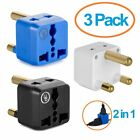 South Africa Adapter by Yubi Power 2 in 1 Universal Travel Adapter with 2 - 3 -