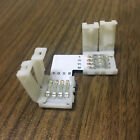 5X 4-pin rgb corner adapter Led Easy Connectors For Led Strip Light Solderless
