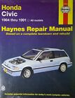 Haynes Repair Manual 42023 Honda Civic 1984 Thru 1991 NEW Unused