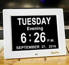 DayClox Updated Memory Loss Digital Calendar Day Clock with Day Cycles  Battery