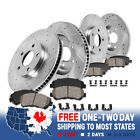 Front & Rear DRILLED SLOTTED BRAKE ROTORS AND CERAMIC PADS For 07-09 Santa Fe