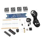 Blue + Transparent DS3231 Rotation LED Electronic Clock & Acrylic Shell Kit