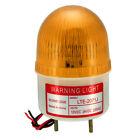 LED Warning Light Bulb Flashing Industrial Buzzer 90dB AC 220V Yellow LTE-2071J