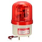 LED Warning Light Bulb Rotating Flashing Alarm Lamp Buzzer 90dB AC220V Red Light