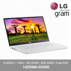 "LG ALL NEW gram 14ZD980-GX50K 14"" Laptop i5-8250U 1.6GH 8G DDR4 256G Free DOS"