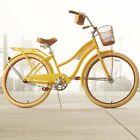 "Womens Beach Cruiser Bike 26"" Ladies Bicycle w Basket Vintage City Comfort Fixie"