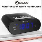 DIGOO USB Smart Digital LCD Display Dual Alarm Clock Snooze with FM Radio Time