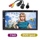 "2 Din 7"" Universal HD Car Stereo DVD CD Player Bluetooth Auto Radio iPod+Camera"