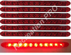 """6 NEW 16"""" RED LED LOW PROFILE SURFACE MOUNT STOP TURN TAIL LIGHTS TRAILER TRUCK"""