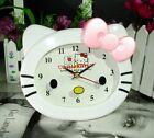 New Hellokitty Bedroom Desk Alarm Clock AA-3310 Pink Bow