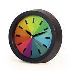 LGBT Gay Pride Black or White Rainbow Alarm Silence Movement Clock Wall Hanging