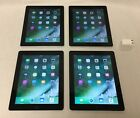 Lot of 4 Very Nice Apple iPad 4 Black 16 GB WiFi MD510LL/A - Free Shipping!