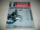 1975 EVINRUDE ( JOHNSON)  2 HP OUTBOARD MOTOR OEM SERVICE SHOP  MANUAL CLEAN