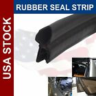 Universal Car Auto Door Rubber Lock Bulb Strip Seal Edge Trim Black Sold By Yard