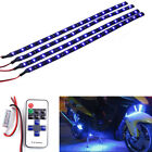 Blue Wireless Remote Control 15 LED Light Bar Strip For Boat Motorcycle Car SUV
