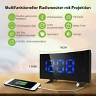 """MPOW Large screen Backlit LCD Digital Clock Alarm+ Laser Projector Projection 5"""""""