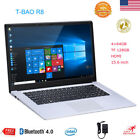 "T-bao Tbook R8 15.6"" Laptop Notebook Win 10 Quad Core 4+64GB Intel TF 128GB HDMI"