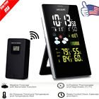 Wireless Color LCD Weather Station Thermometer Hygrometer Alarm Snooze w/Sensor